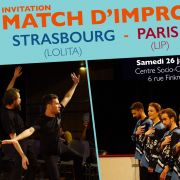 Match d\'impro : Strasbourg - Paris