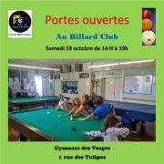 Journée portes ouvertes au Billard Club de Lingolsheim