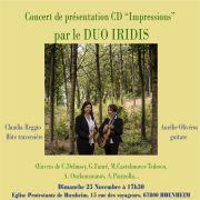 Duo Iridis : présentation du CD Impressions