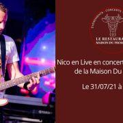 Nico en concert au Restaurant de la Maison Du Fromage