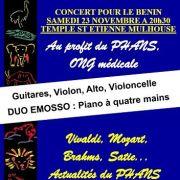 Concert pour le Bénin- PHANS