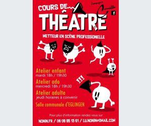 Ateliers théâtre enfants, ados et adultes