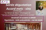 soiree degustation accord mets et vins