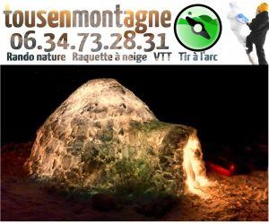 La construction d\'un igloo dans les Vosges