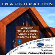 Inauguration de la Médiathèque Le Trait d\'Union de Weyersheim