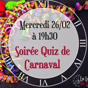 Soirée Quiz de Carnaval