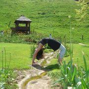 La colline du Bastberg, entre visite et yoga