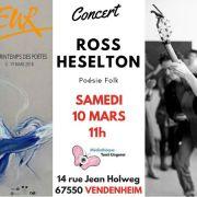 Printemps des poètes avec Ross Heselton