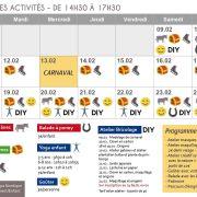 Programme activités vacances hiver au Hirtz