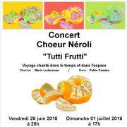 Tutti Frutti du choeur Néroli