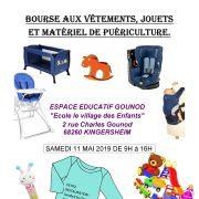 Bourse aux vêtements, jouets et matériel de puériculture
