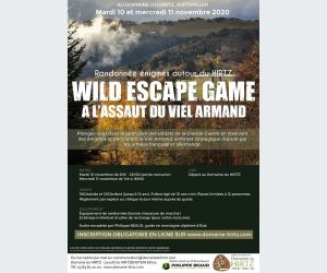 WILD ESCAPE GAME – « A l'assaut du Viel Armand » 10 et 11 novembre 2020