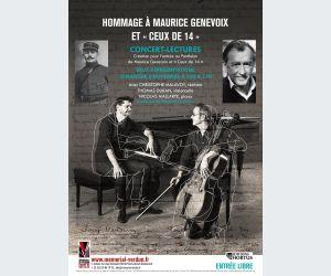 Concert-lectures - Hommage à Maurice Genevoix et « Ceux de 14 »