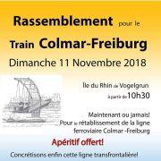 Grand rassemblement pour le train Colmar-Freiburg !