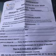 Marchés aux puces à Kogenheim 2019