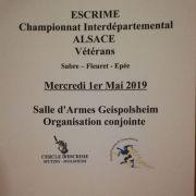 Championnat d\'Alsace Escrime Vétérans