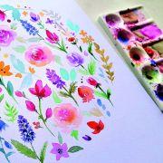 Atelier Adulte - Couronne florale en aquarelle avec Natacha Perez