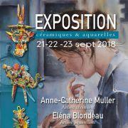 Expo d\'aquarelles et céramiques