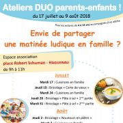 Ateliers Duo parents/enfants