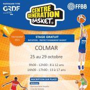 CGB Colmar 2021 - Stages de basket gratuits