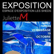 Vernissage « Petits papiers » par Juliette M