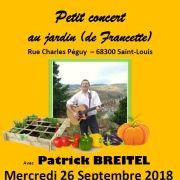 Petit concert au jardin... avec Patrick Breitel