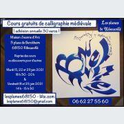 Les plumes de Ribeauvillé - Reprise des Cours gratuits de calligraphie médiévale
