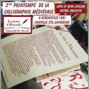 3ème Printemps de la calligraphie médiévale