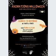 Animations Halloween aux Halles du Scilt