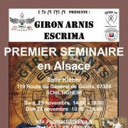 Premier séminaire de Giron Arnis Escrima en Alsace !
