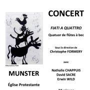 Fiati a quattro (4 flûtes à bec)