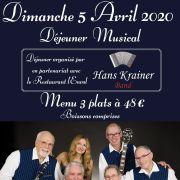 Déjeuner Musical avec Hans Krainer Band !
