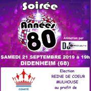 Soirée années 80 et élection de la Reine de Cœur de Mulhouse