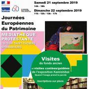 Journées du Patrimoine à la Médiathèque Protestante de Strasbourg