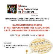 La prévention des risques et les responsabilités des associations liés à l\'organisation de manifestations\