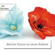 Atelier fleur en laine feutrée