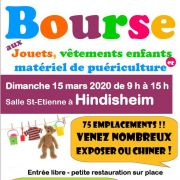 Bourse aux jouets et vêtements enfants à Hindisheim 2020