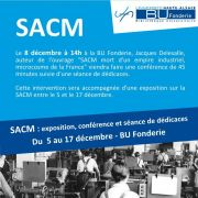SACM : exposition, conférence et séance de dédicaces