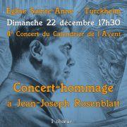 Concert hommage à Jean-Joseph Rosenblatt