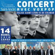 VoxpoP et les petits chanteurs de Saint-André de Colmar