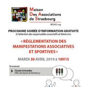 Réglementation des manifestations associatives et sportives