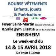 Bourse aux vêtements enfants, jouets et puériculture à Ensisheim 2018