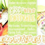 Cours de CRUsine vegan & ss.glu. Techniques & Saveurs explosives