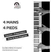 Duo Organza : 4 mains 4 pieds