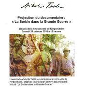 Projection film documentaire sur la 1ère guerre mondiale serbe \