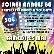 AZUR FM Soirée Années 80 & Tartes Flambées à volonté