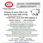 Grand repas Cochonnailles de Terre des Hommes Alsace