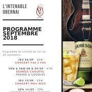 Programme du mois à L\'Intenable Obernai