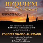 Requiem de Mozart - Commémoration de l'Armistice de 1918