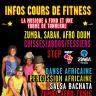 Cours de Zumba, Sabak, danse et percussions afro doum et africaines, Salsa et Hip-hop